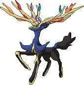 Pokémon-Pixelart: Xerneas