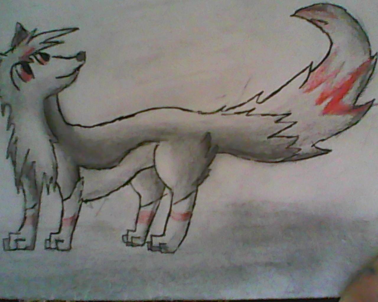 Pokémon-Zeichnung: Wolf