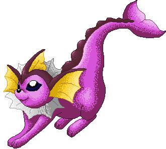 Pokémon-Pixelart: Shiny aquana