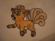 Pokémon-Zeichnung: Vulpix
