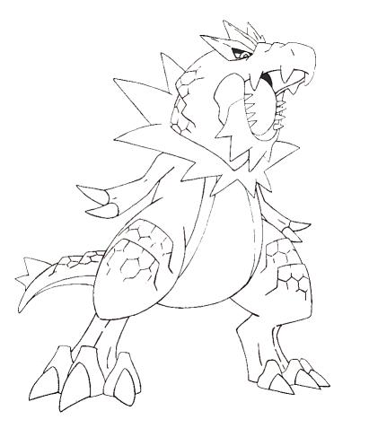 Pokémon-Zeichnung: Monagoras Ausmalbild