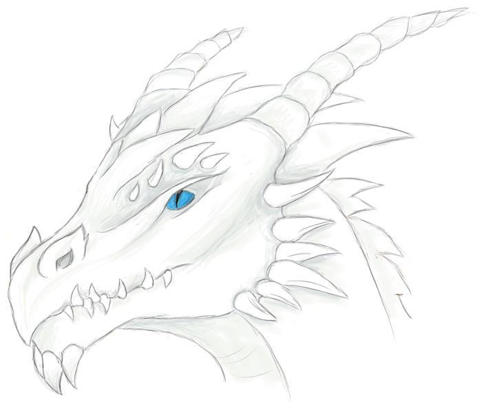 Pokémon-Zeichnung: Weißer Drache