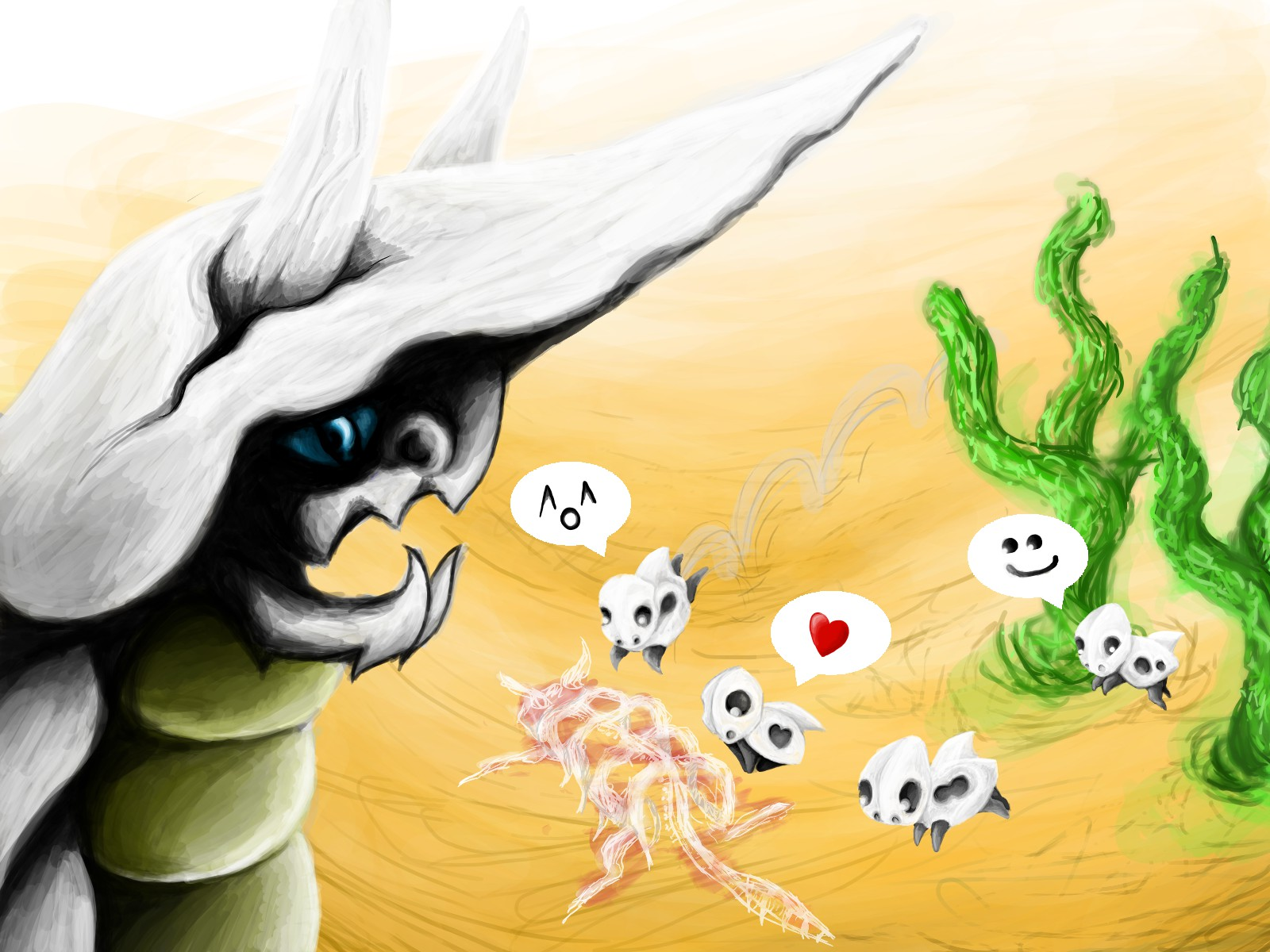 Pokémon-Zeichnung: Witzige Wüstenpolizei