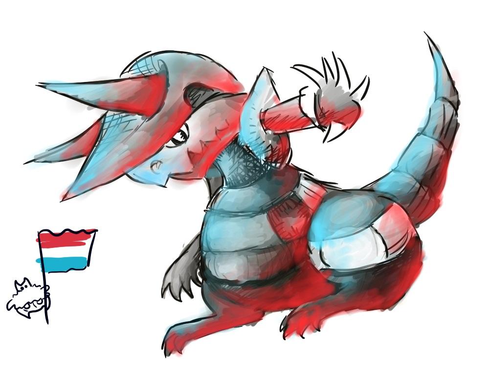 Pokémon-Zeichnung: Irrbis und Stolloss