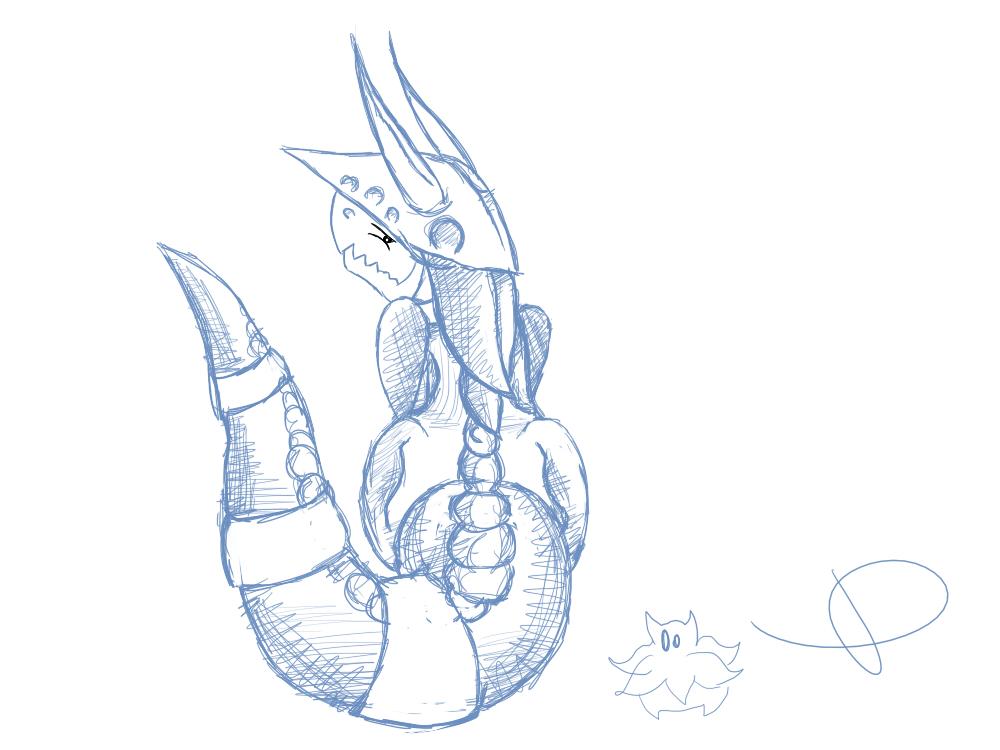 Pokémon-Zeichnung: Stolloss Skizze