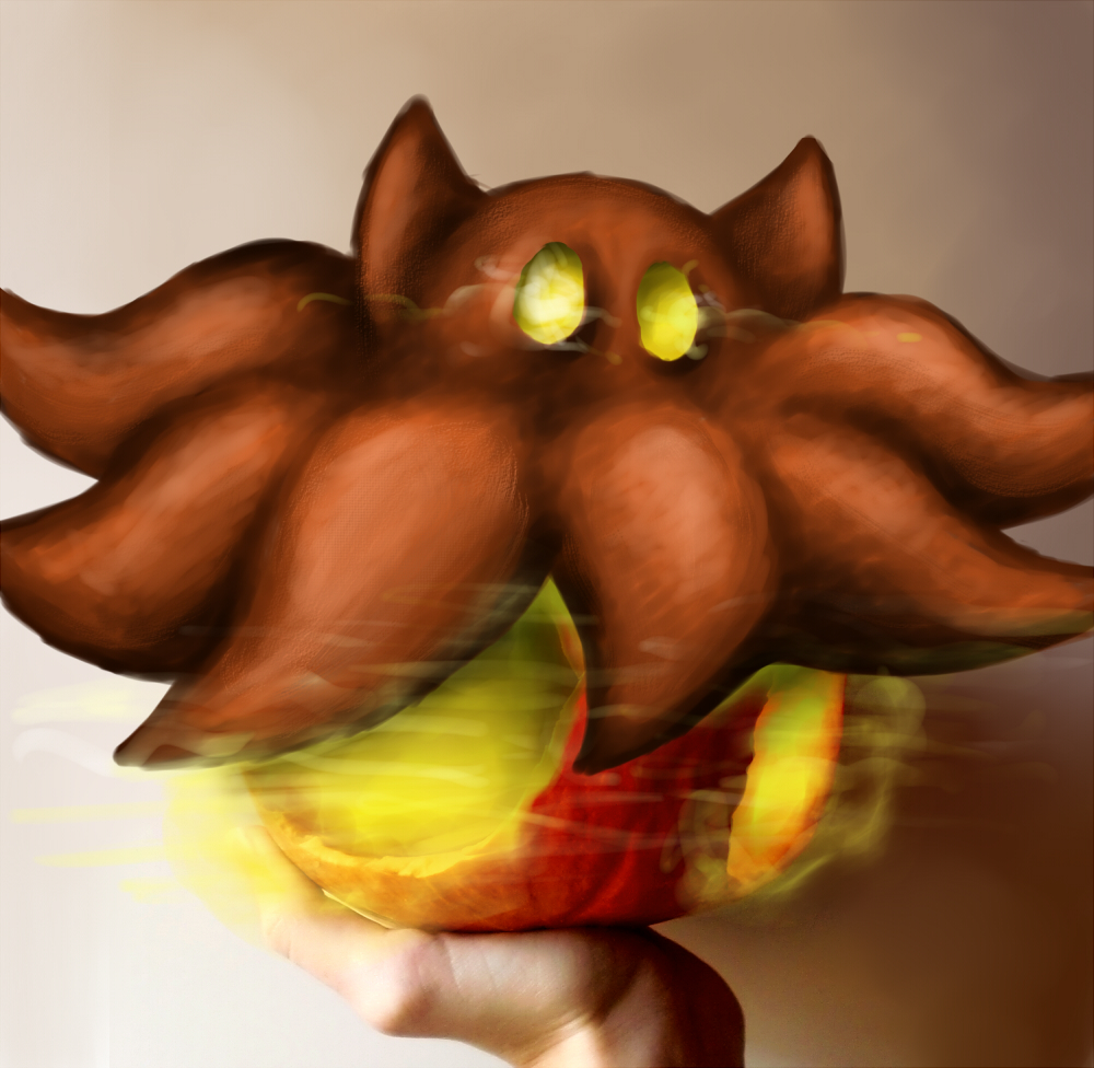 Pokémon-Fanart: Ich hab 'n Irrbis in der Hand! oO