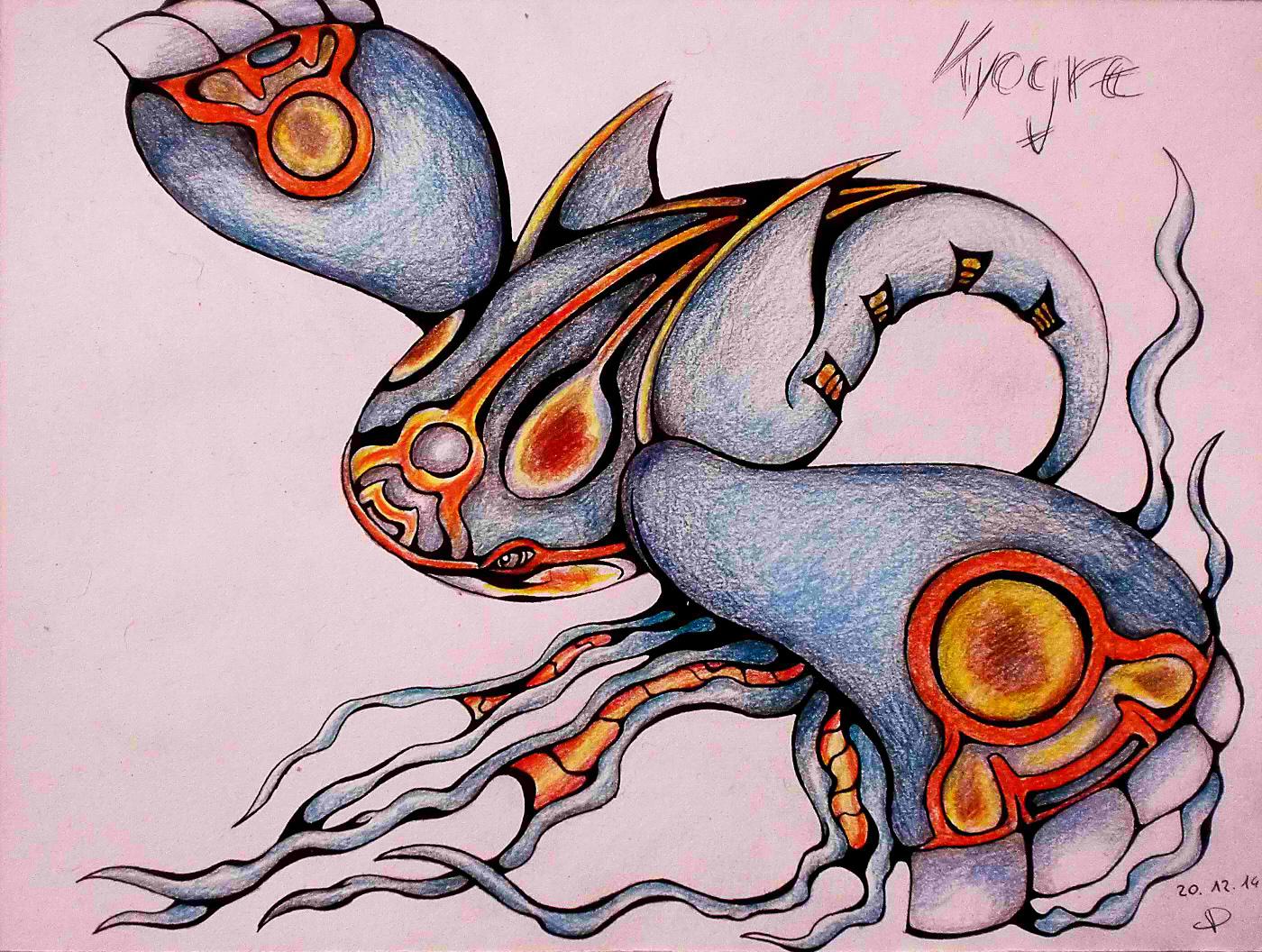 Pokémon-Zeichnung: Fanart no. 101 / Ein Proto-Kyogre!