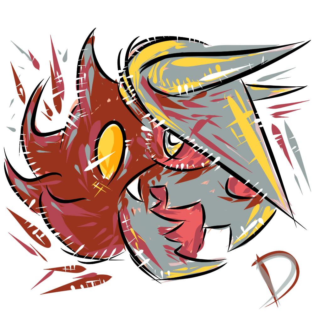 Pokémon-Zeichnung: Irrboss - Irrbis & Stolloss