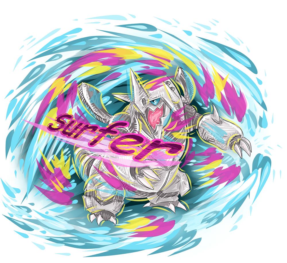 Pokémon-Zeichnung: Surferstolloss!!!