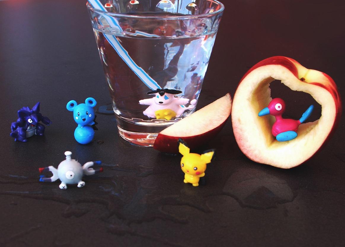 Foto: Was ist denn da im Wasserglas?