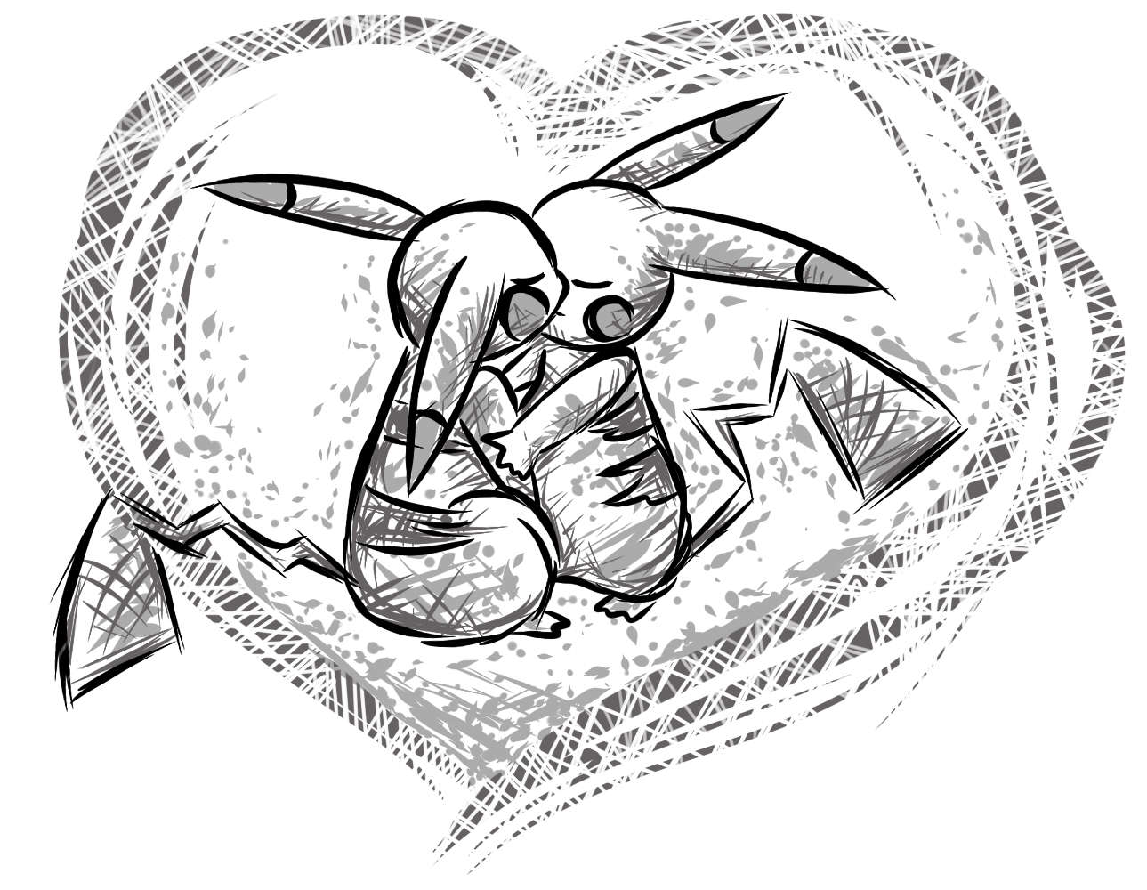 Pokémon-Zeichnung: Love <3