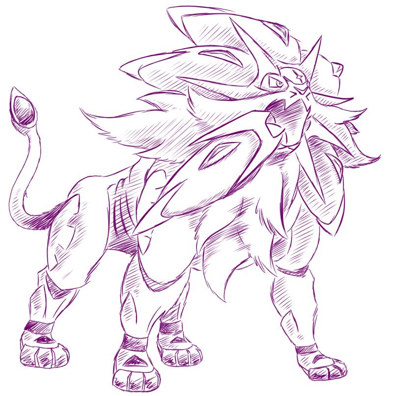 Pokémon-Zeichnung: Pokémon Sonne