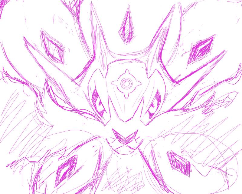 Pokémon-Zeichnung: Solgaleo Skizze