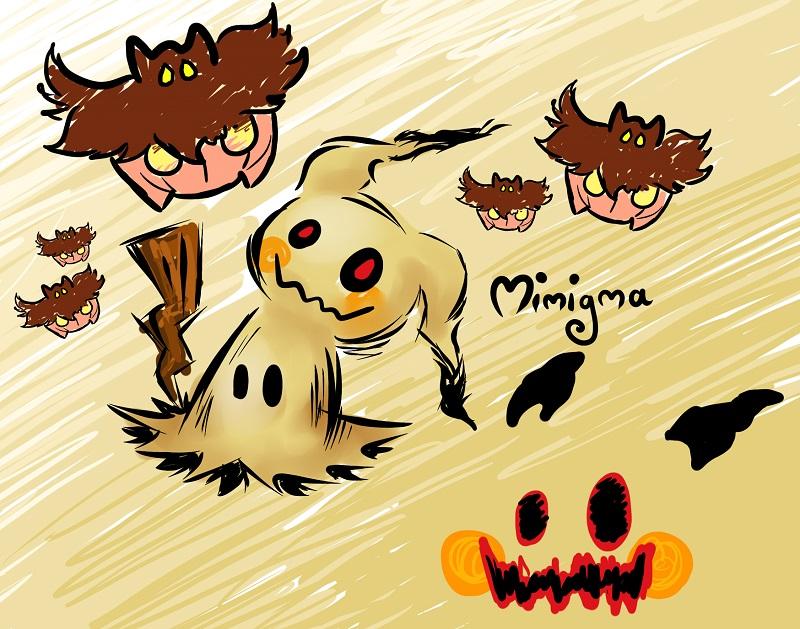 Pokémon-Zeichnung: Mimigma <3