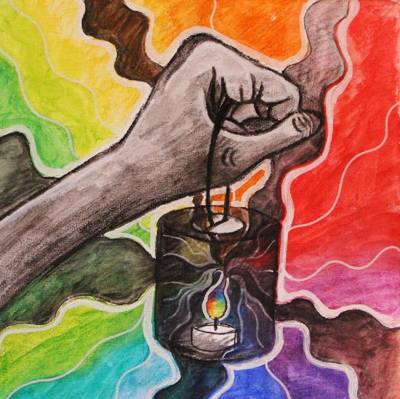 Pokémon-Zeichnung: Regenbogenkerze wub