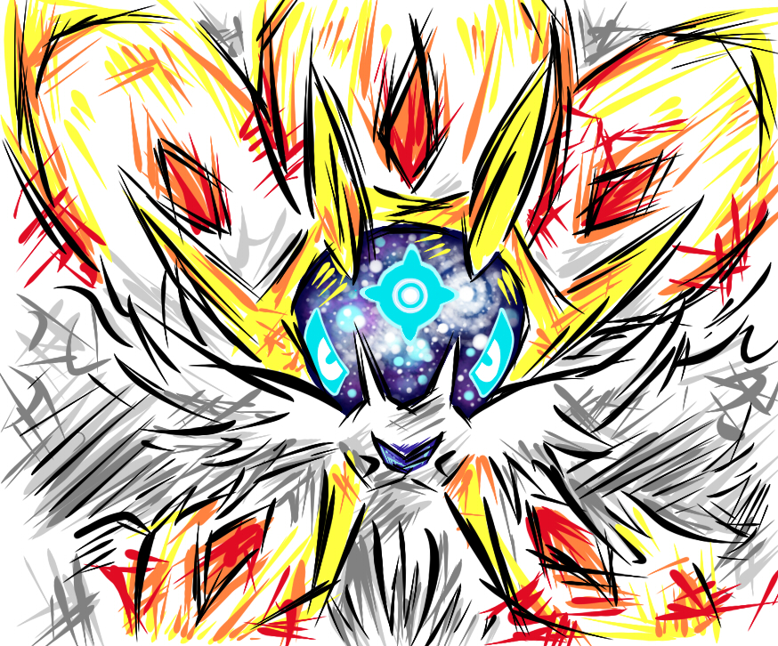 Pokémon-Zeichnung: Solgaleo again
