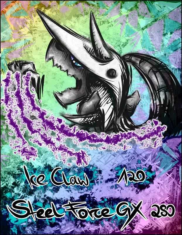 Pokémon-Zeichnung: Alola-Stolloss GX rainbow holo