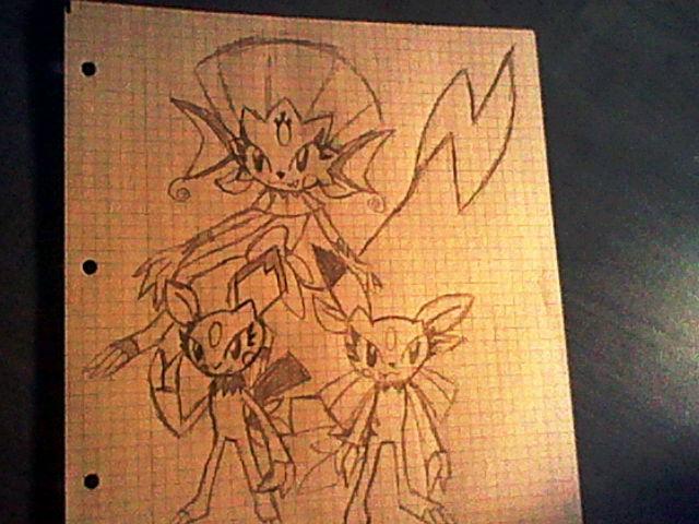 Pokémon-Zeichnung: Sniebels und Pichus neue Entwicklungen