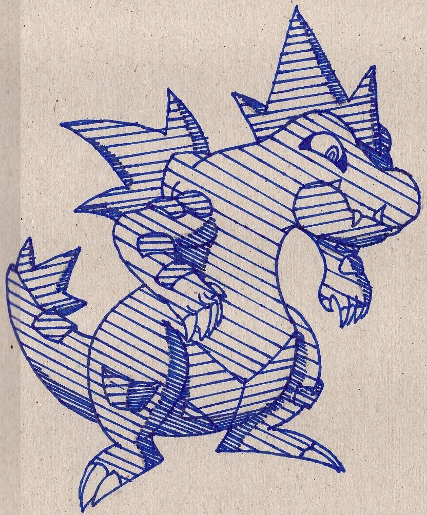 Pokémon-Zeichnung: le Impergator