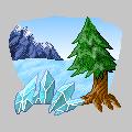 Pokémon-Sprite: Winterlandschaft