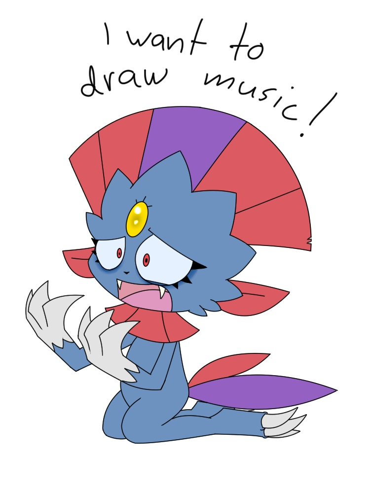 Pokémon-Zeichnung: I want to draw music