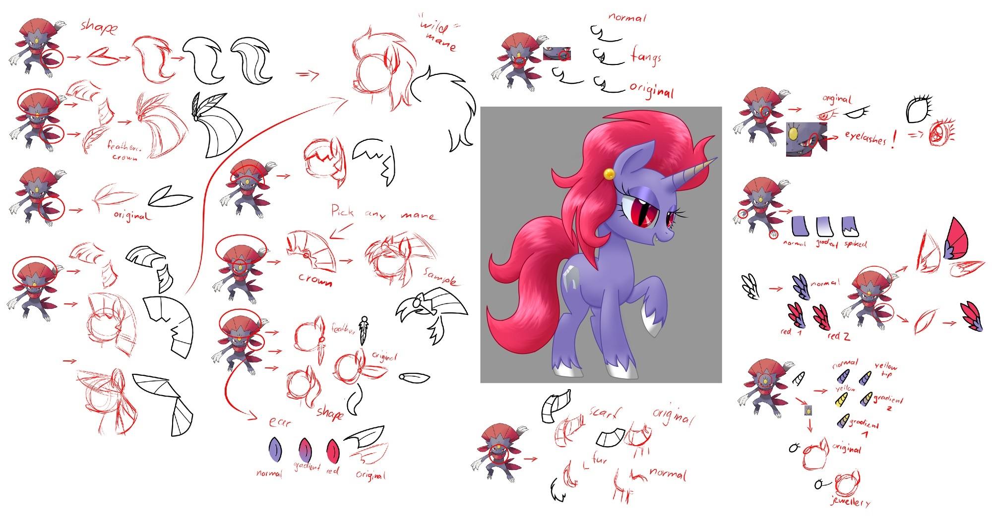 Pokémon-Zeichnung: Snibunna MLP Pony