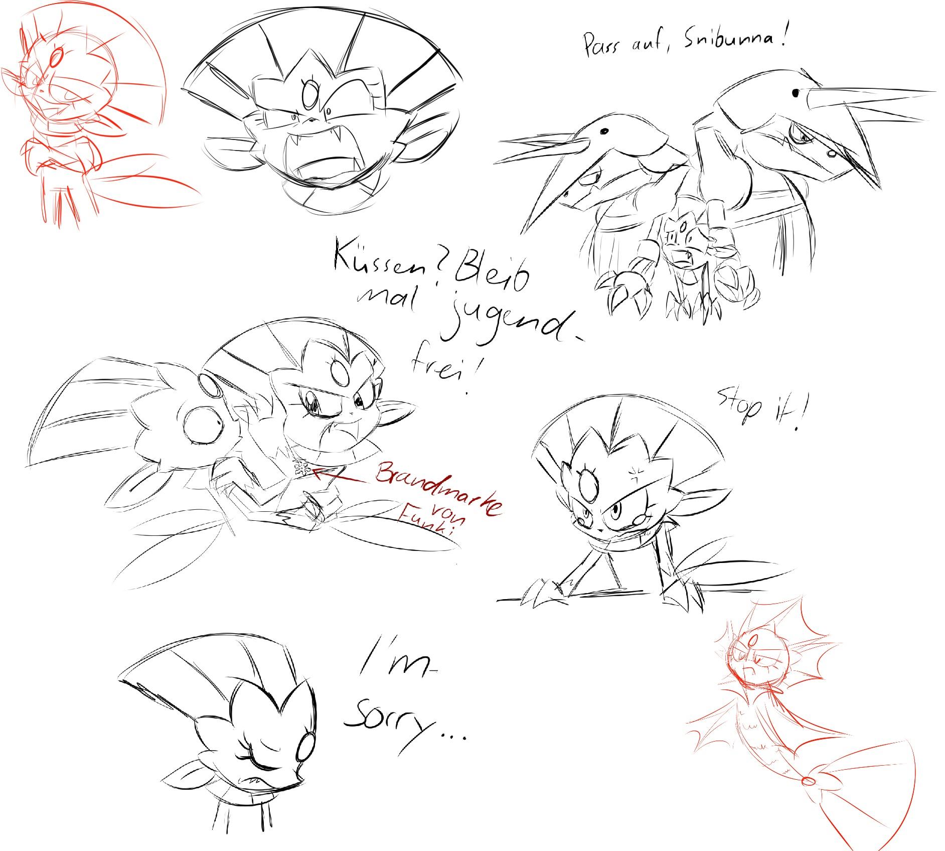 Pokémon-Zeichnung: Skizzen