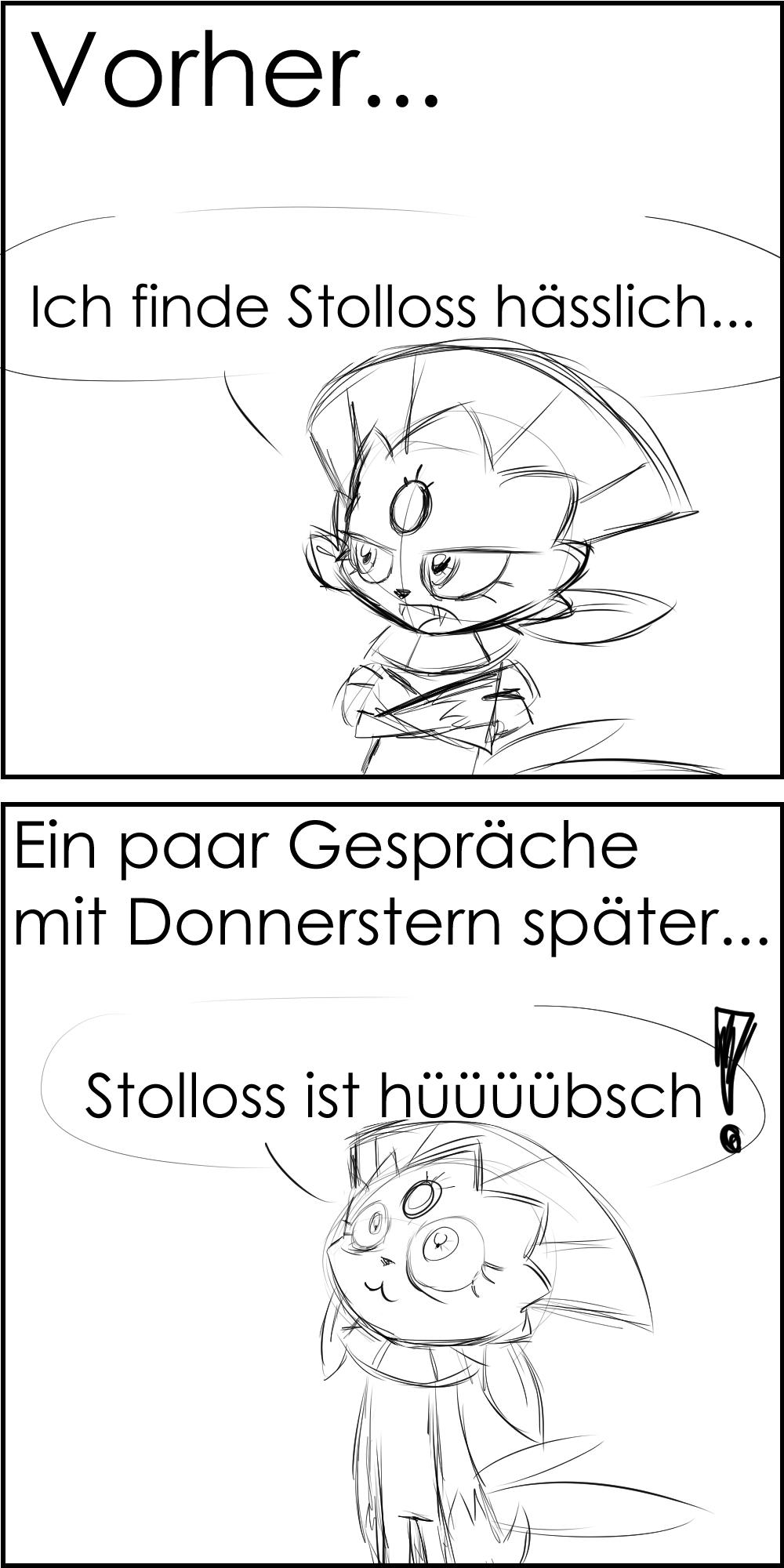 Pokémon-Zeichnung: Stolloss ist hüüübsch!