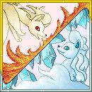 Pokémon-Pixelart: Vulnona und Vulnona