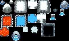 Pokémon-Tileset: Diverser Schneekram für Gaia