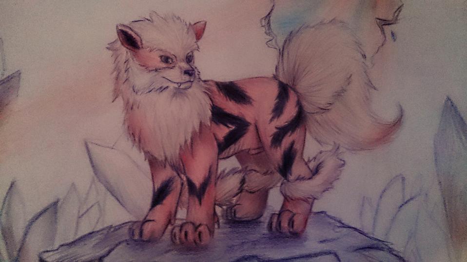 Pokémon-Zeichnung: Arcanine
