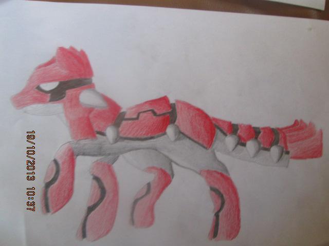 Pokémon-Zeichnung: Groudon als Hund
