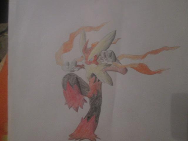 Pokémon-Zeichnung: Mega Lohgock