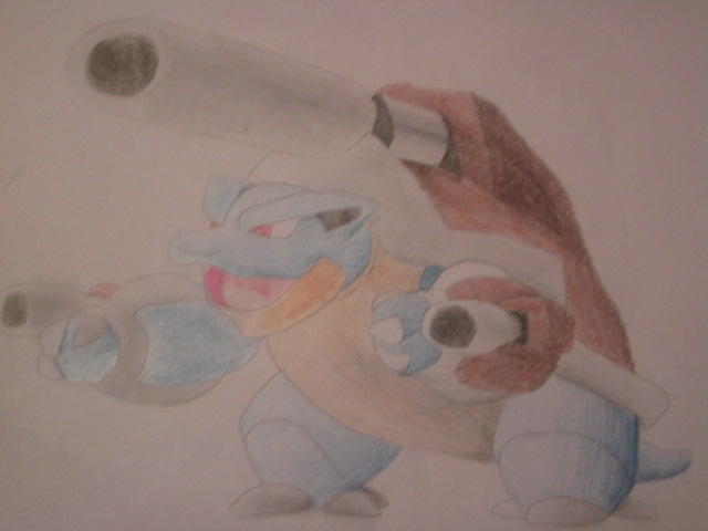 Pokémon-Zeichnung: Mega Turtok