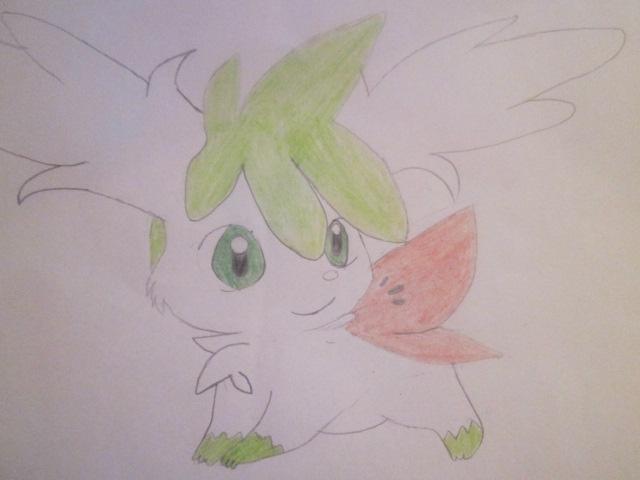 Pokémon-Zeichnung: Shaymin Zenitform
