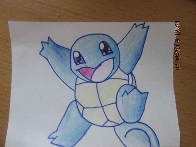 Pokémon-Zeichnung: Schiggy