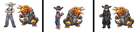 Pokémon-Fanart: Trainer mit einem Stolloss