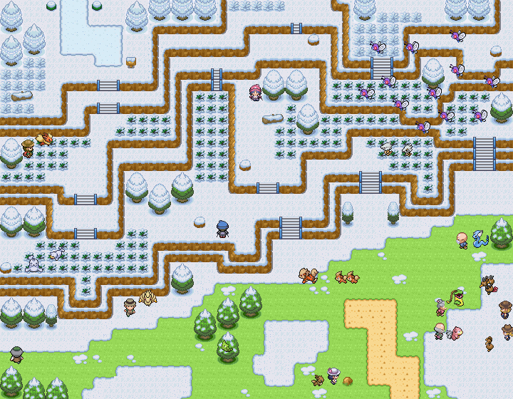 Pokémon-Map: Schneeroute