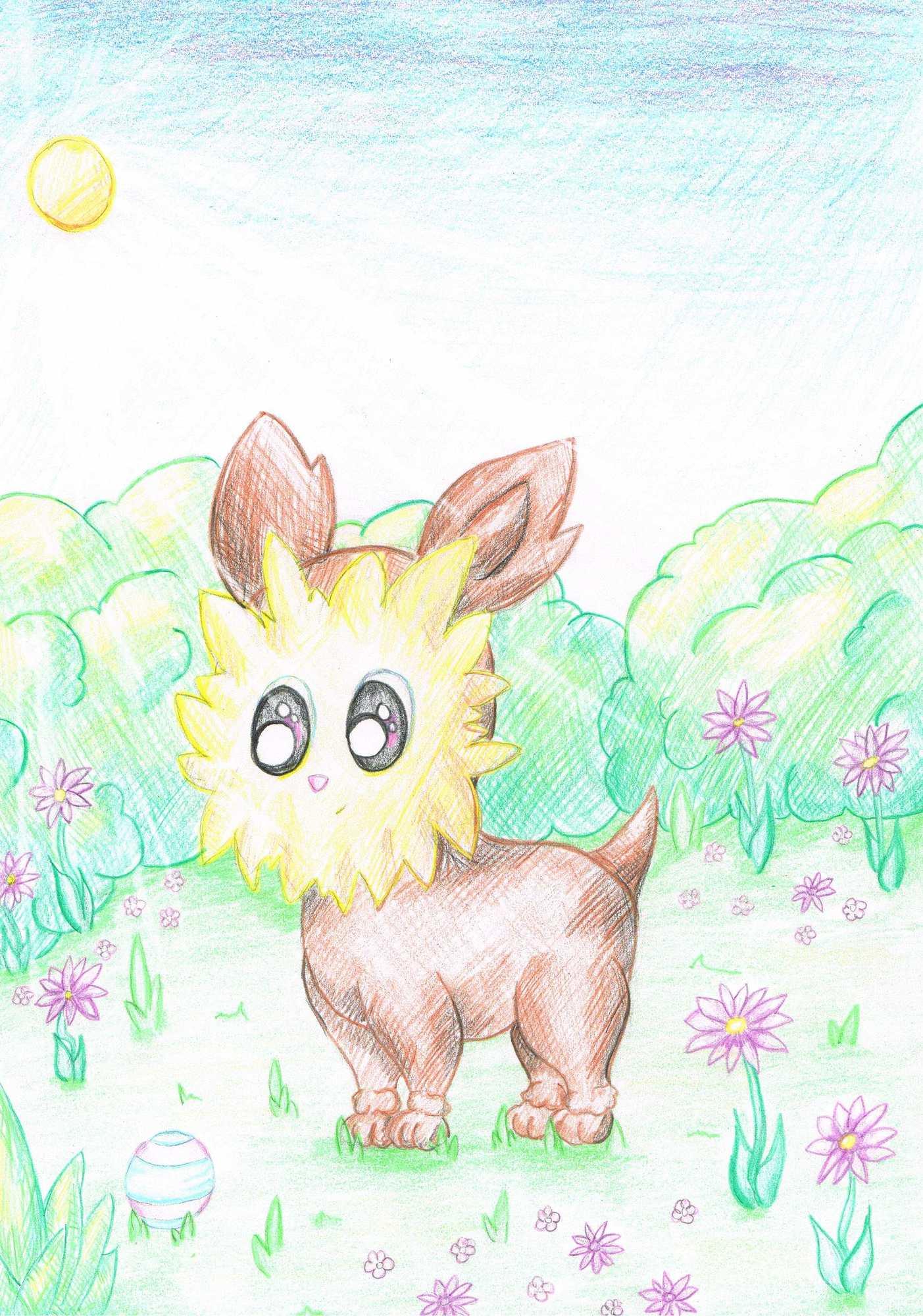 Pokémon-Zeichnung: Yooterii-Zeichnung