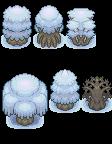 Pokémon-Tileset: Schnee-Bäume