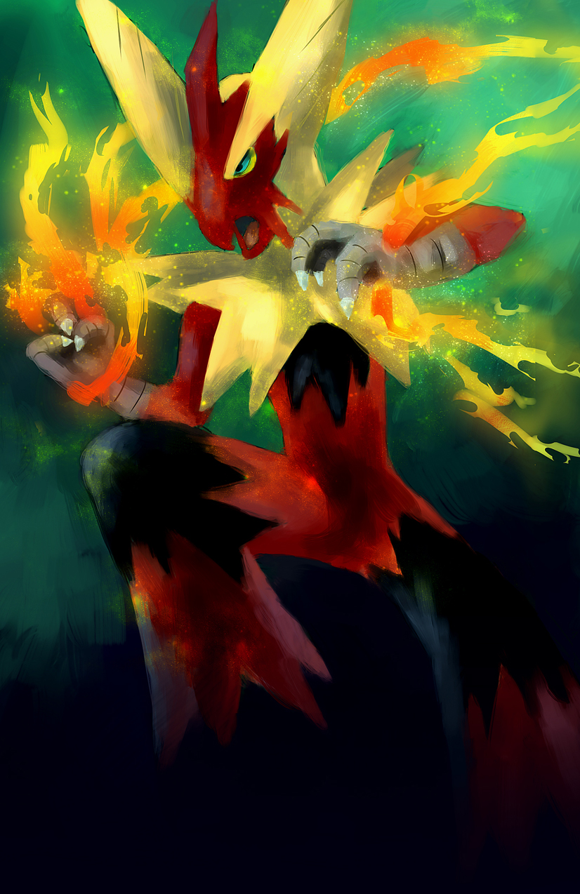 Pokémon-Zeichnung: Mega - Lohgock