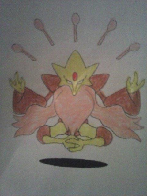 Pokémon-Zeichnung: Mega Simsala