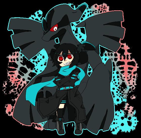 Pokémon-Pixelart: Chibi Zekrom + Gijinka