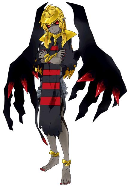 Pokémon-Zeichnung: Giratina Wandelform Gijinka