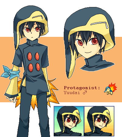 Pokémon-Pixelart: PMD:Himmel | Yuudai - Feurigel Gijinka