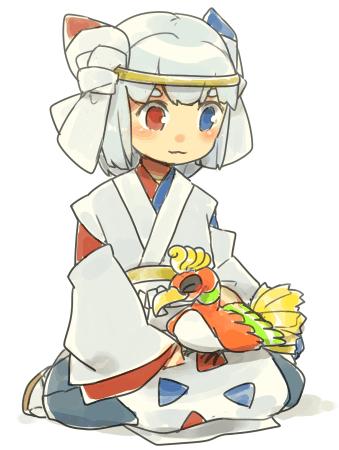 Pokémon-Zeichnung: Makoto mit Birdy Bird