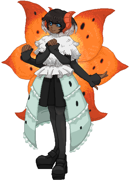 Pokémon-Pixelart: Uni - Ramoth Gijinka