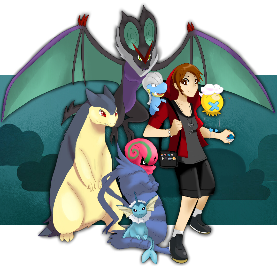 Pokémon-Zeichnung: Ich als Pokemon Trainer