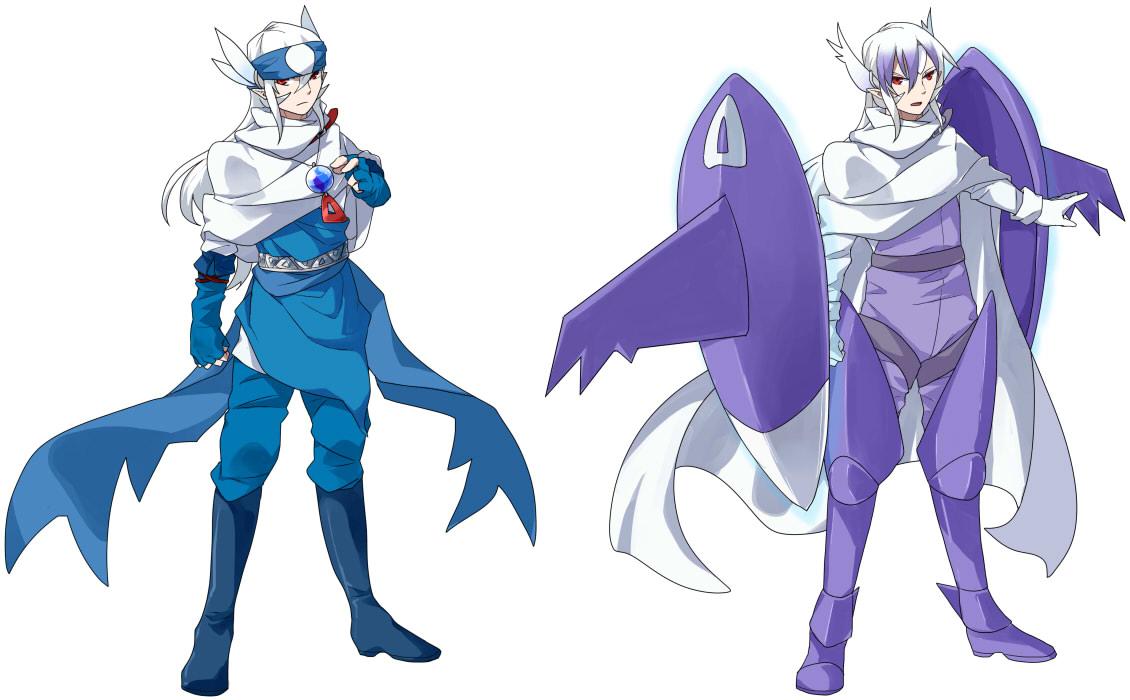 Pokémon-Zeichnung: Latios (+ Mega Form) Gijinka