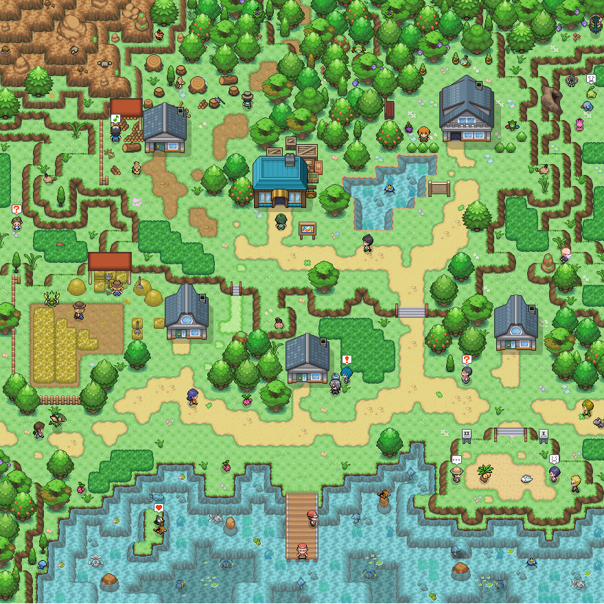 Pokémon-Map: Mapping WB45  –  Map 1: Fiana